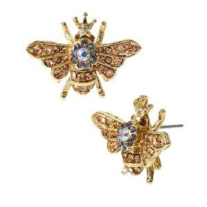 NWT Betsey Johnson queen bee earrings 🐝